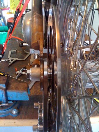 rear brake bracket spacers