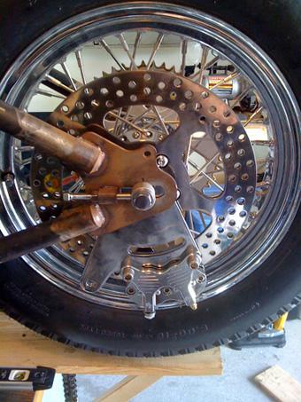 rear brake rotor bracket