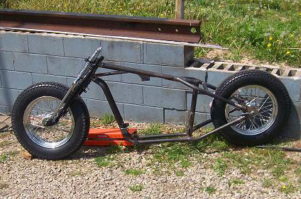 Gooseneck sportster rolling chassis