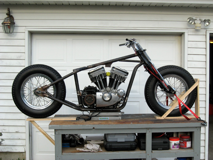 Sportster Engine Led Sled Frame