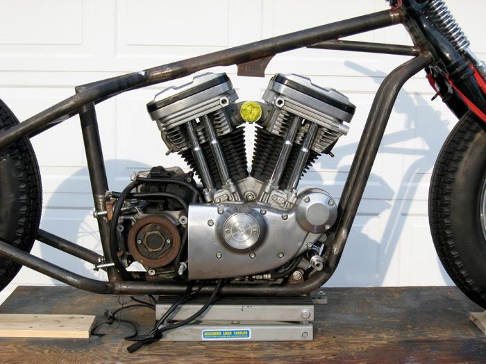 Sportster Engine Custom Bobber Frame