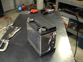 Homemade Custom Motorcycle Battery Box Design
