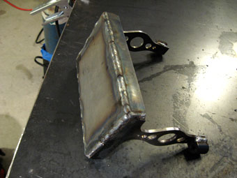 Welding and grinding a Homemade Custom Motorcycle Battery Box