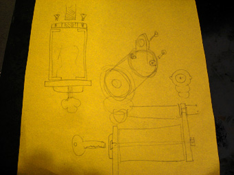 Custom Ignition Switch Mount Sketch