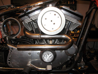 Custom Sportster Exhaust Pipes & Custom Exhaust Pipe Made By RB Kustoms