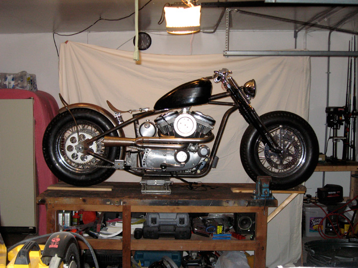 Custom Harley Sportster 2 into 1 Exhaust