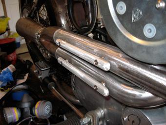 Custom Harley Exhaust Heat Shields