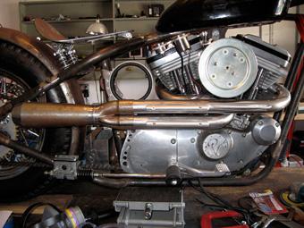 Custom Harley Sportster 2 into 1 Exhaust